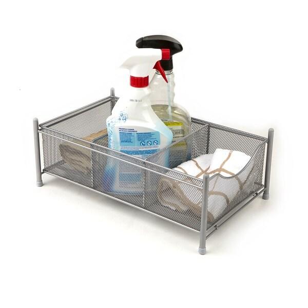 Merveilleux ... Mind Reader 3 Compartment Metal Mesh Storage Baskets Organizer, Home,  Office, Kitchen, ...