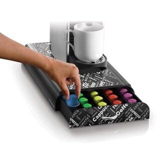 Mind Reader 50 Capacity 'Anchor' Coffee Pod Storage Drawer Organizer for Nespresso Capsules, Black Print