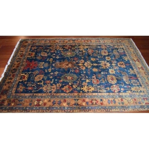 """Noblehouse Hand-knotted vegetable dye rug 5'2"""" x 7'2"""""""