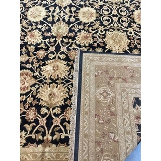 "Kashan design Hand-knotted wool rug 12'1"" x 15'4"""