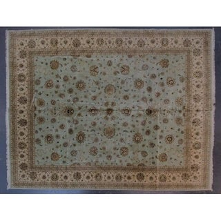 Tabriz hand-knotted wool rug 12' x 15'