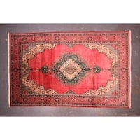 "Authentic Persian Tabriz  Hand-knotted wool rug 9'11"" x 15'10"""
