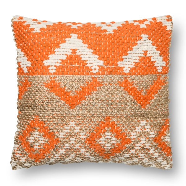 Beige Couch Orange Pillows: Shop Woven Orange/ Beige Geometric Diamond 22-inch Throw