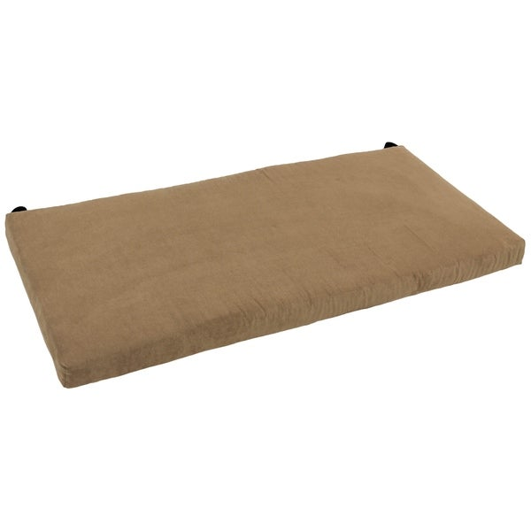 Shop Blazing Needles 40 Inch Indoor Microsuede Bench Cushion Free