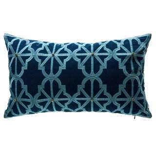 Bombay® Outdoors Arabesque Indigo Lattice Outdoor Oversized Lumbar Pillow