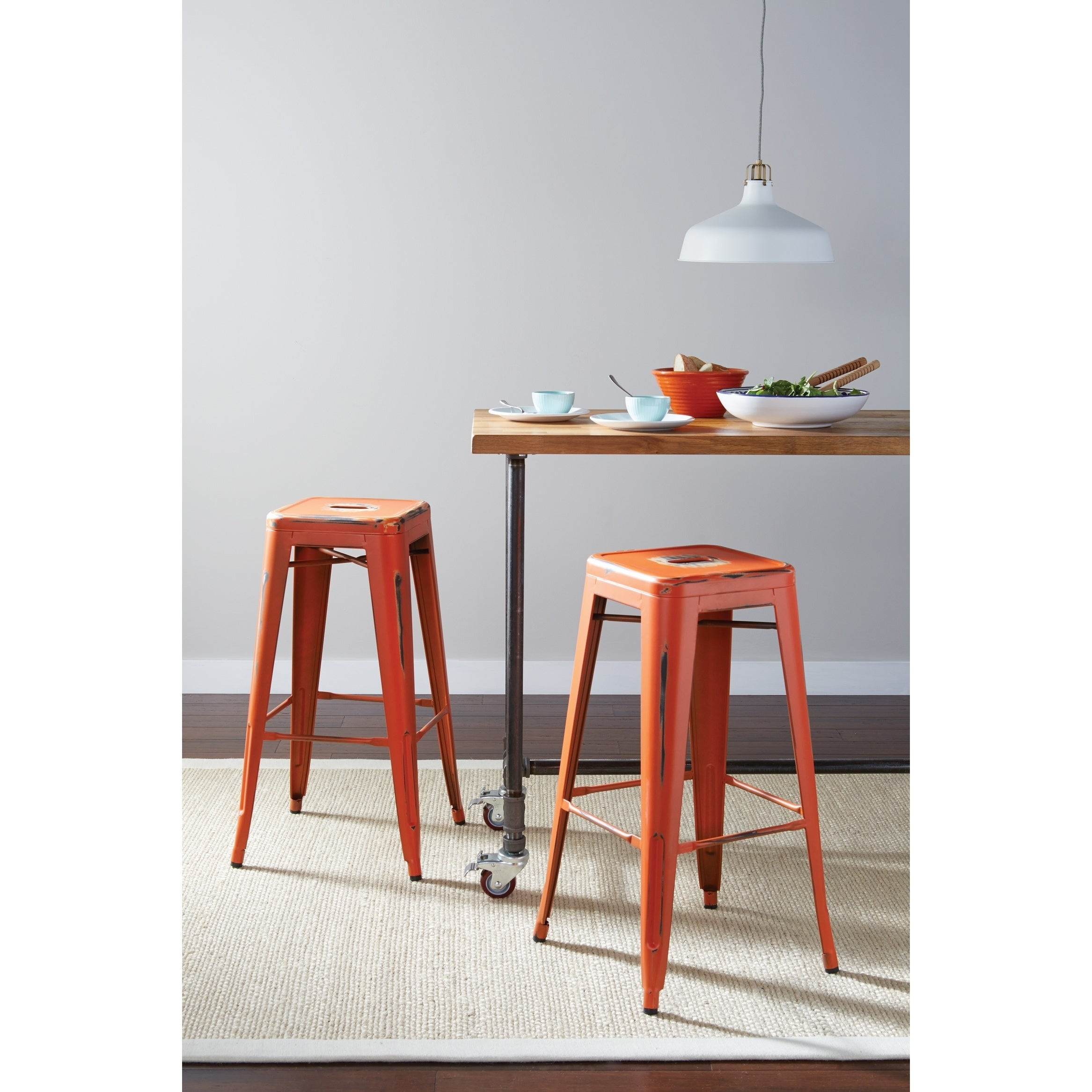 Orange Counter Bar Stools Online At Our Best Dining Room Furniture Deals