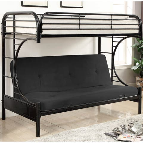 Dante Contemporary Loft Bunk Bed with Futon Base by FOA