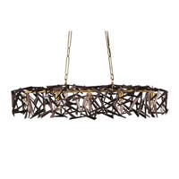 Varaluz Bermuda 5-light Antique Gold/ Rustic Bronze Linear Pendant