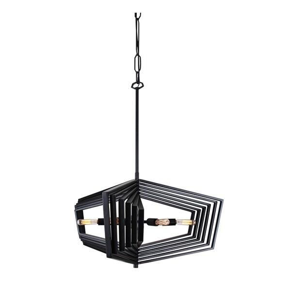 Varaluz Gymnast 6-light Black Pendant
