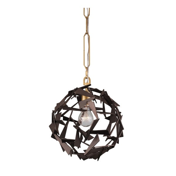 Varaluz Bermuda 1-light Antique Gold/ Rustic Bronze Pendant