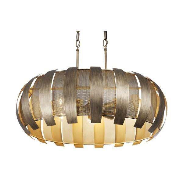 Varaluz Sawyers Bar 6-light Havana Gold Linear Pendant