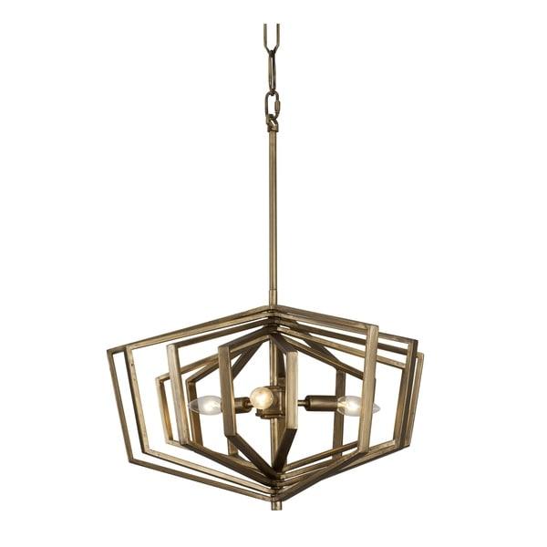 Varaluz Gymnast 3-light Havana Gold Pendant