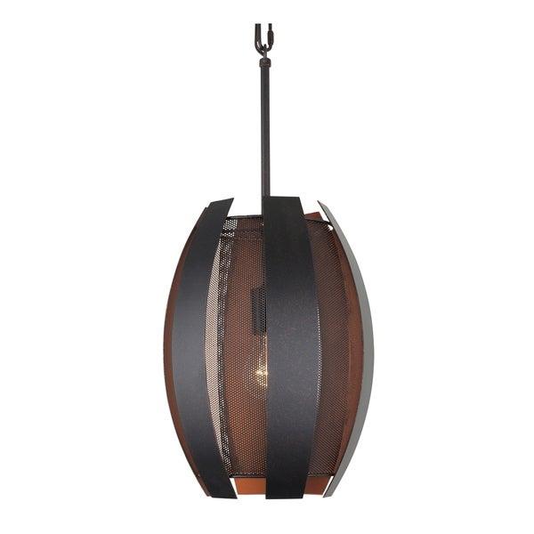 Varaluz Sawyers Bar 1-light Two-Tone Copper Ore Pendant