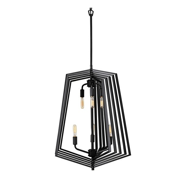 Varaluz Gymnast 6-light Black Foyer Pendant