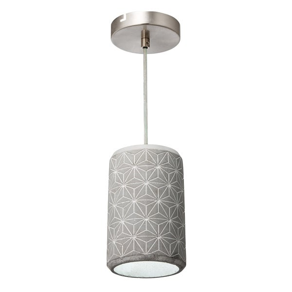 Varaluz Pottery Perfect 1-light Chrome with Concrete Geostar Mini Pendant