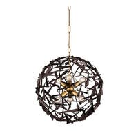 Varaluz Bermuda 6-light Antique Gold/ Rustic Bronze Pendant