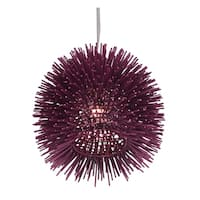 Varaluz Urchin 1-light Plum Mini Pendant