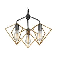 Varaluz Metropolis 3-light Antique Gold/ Rustic Bronze Pendant
