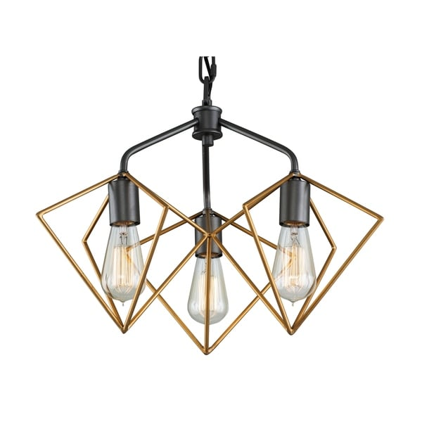 Varaluz Metropolis 3-light Antique Gold/ Rustic Bronze Pendant