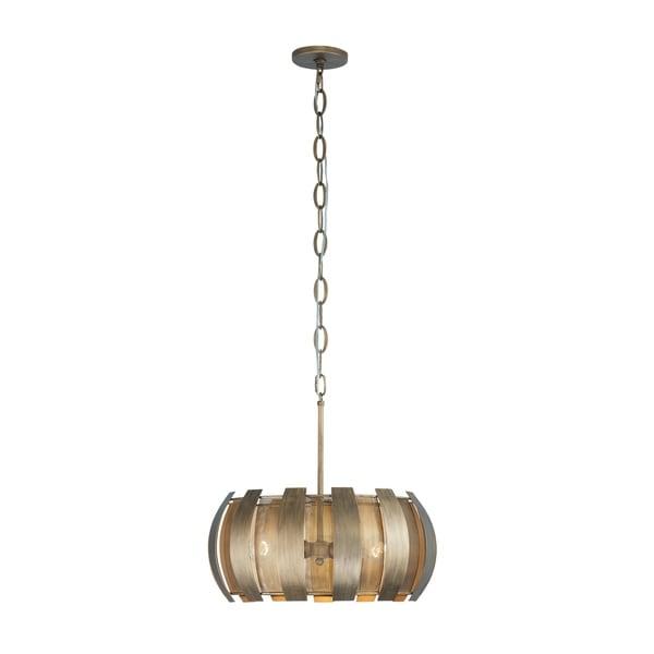 Varaluz Sawyers Bar 3-light Havana Gold Pendant