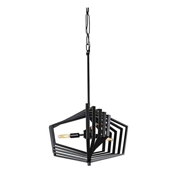 Varaluz Gymnast 3-light Black Pendant