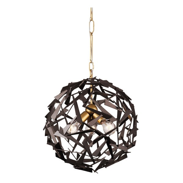 Varaluz Bermuda 3-light Antique Gold/ Rustic Bronze Pendant