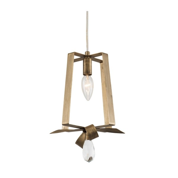 Varaluz Posh 1-light Havana Gold Tall Mini Pendant