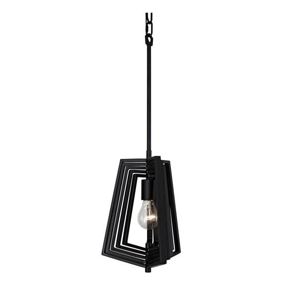 Varaluz Gymnast 1-light Black Pendant