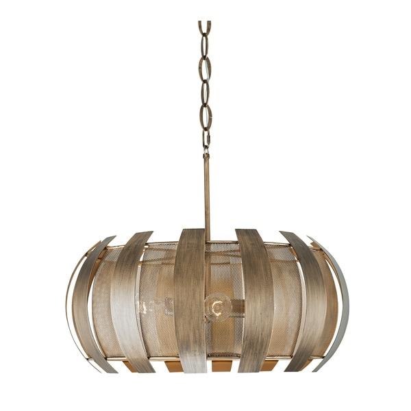 Varaluz Sawyers Bar 4-light Havana Gold Pendant