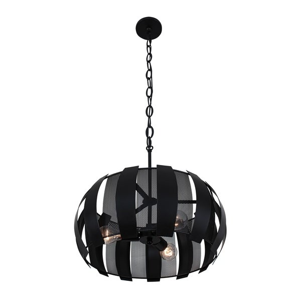 Varaluz Sawyers Bar 3-light Black Pendant