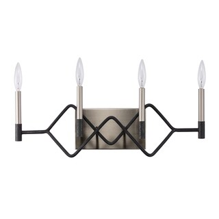 Varaluz To Circuit with Love 4-light Textured Black/ Brushed Nickel Bath Fixture
