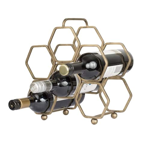 Havana Gold Hexagonal Wine Rack