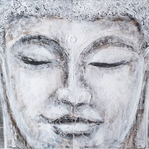 Buddha 2-Panel Painted Wall Art