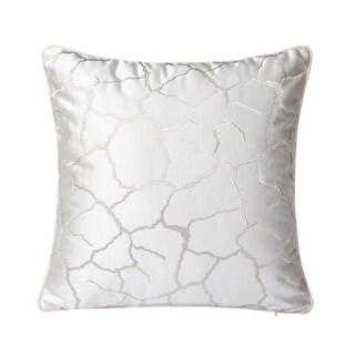 Varaluz Casa White/ Silver Square Throw Pillow