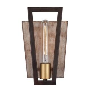 Varaluz Zag 1-light Dark Oak Wall Sconce