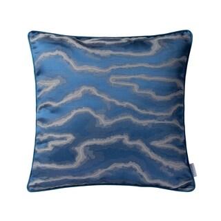 Varaluz Casa Blue/ Silver Fluid Square Throw Pillow