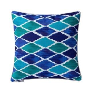 Varaluz Casa Blue Harlequin Square Throw Pillow