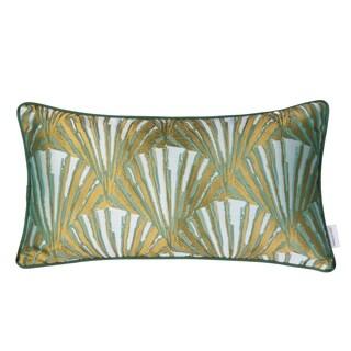 Varaluz Casa Green/ Gold Deco Fan Lumbar Throw Pillow