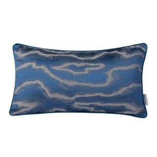 Varaluz Casa Blue/ Silver Fluid Lumbar Throw Pillow