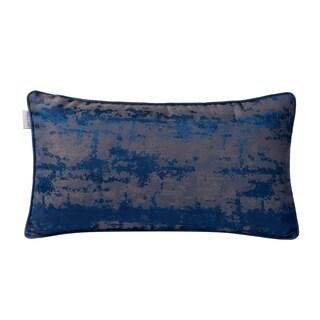 Varaluz Casa Blue Modern Imprint Lumbar Throw Pillow