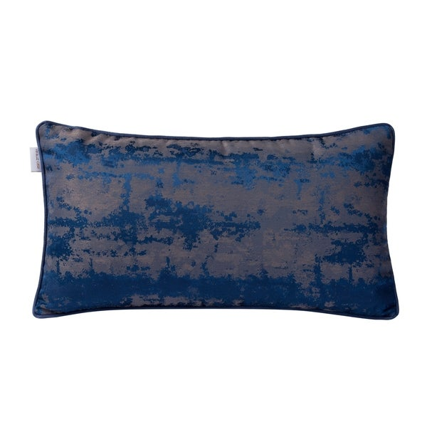 Blue Modern Imprint Lumbar Throw Pillow