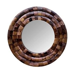 Varaluz Casa Wine Country Reclaimed Wood Circular Mirror