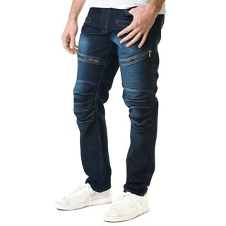 Refinery Republic Men's Solid Black Straight Fit Denim Jeans