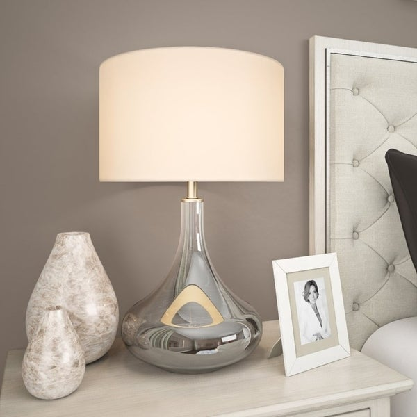 Miroir table lamp in smoked chrome ombre