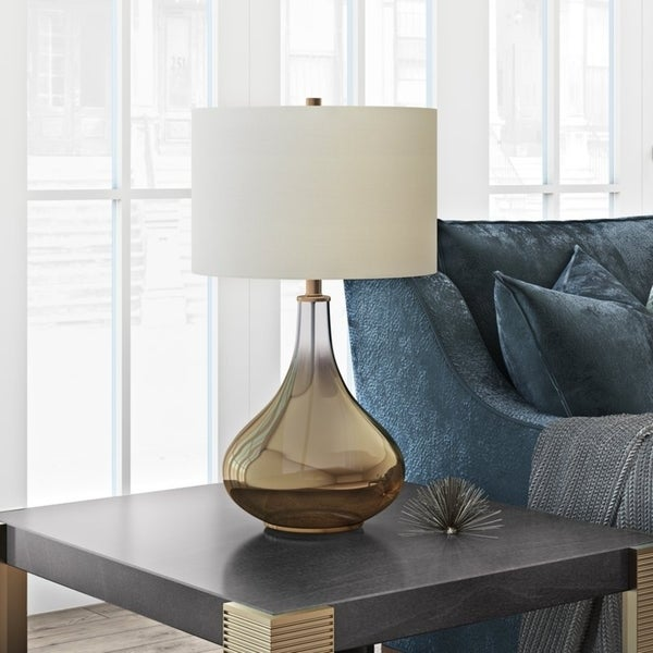 Miroir table lamp in ombre brass colored glass