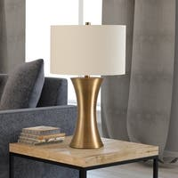 Quint table lamp in antique brass