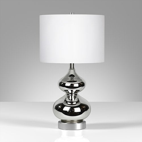 Katrin table lamp in nickel plated glass