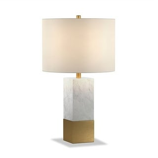 Lena table lamp in Carrara style marble and brass