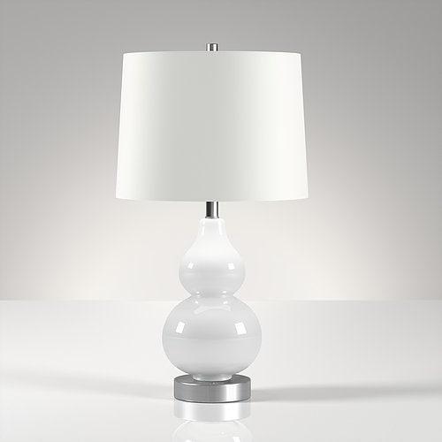 Katrina petite table lamp in white