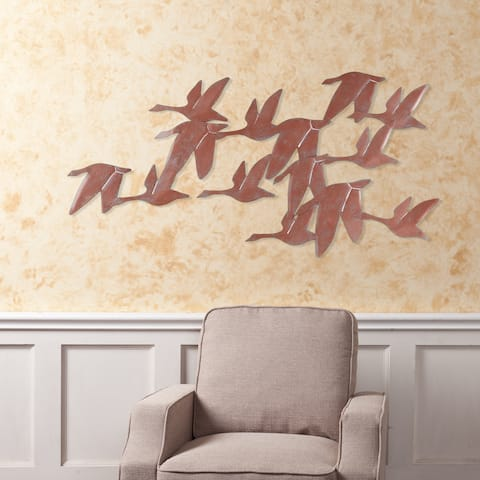 Copper Grove Kitty Flock of Geese Wall Art